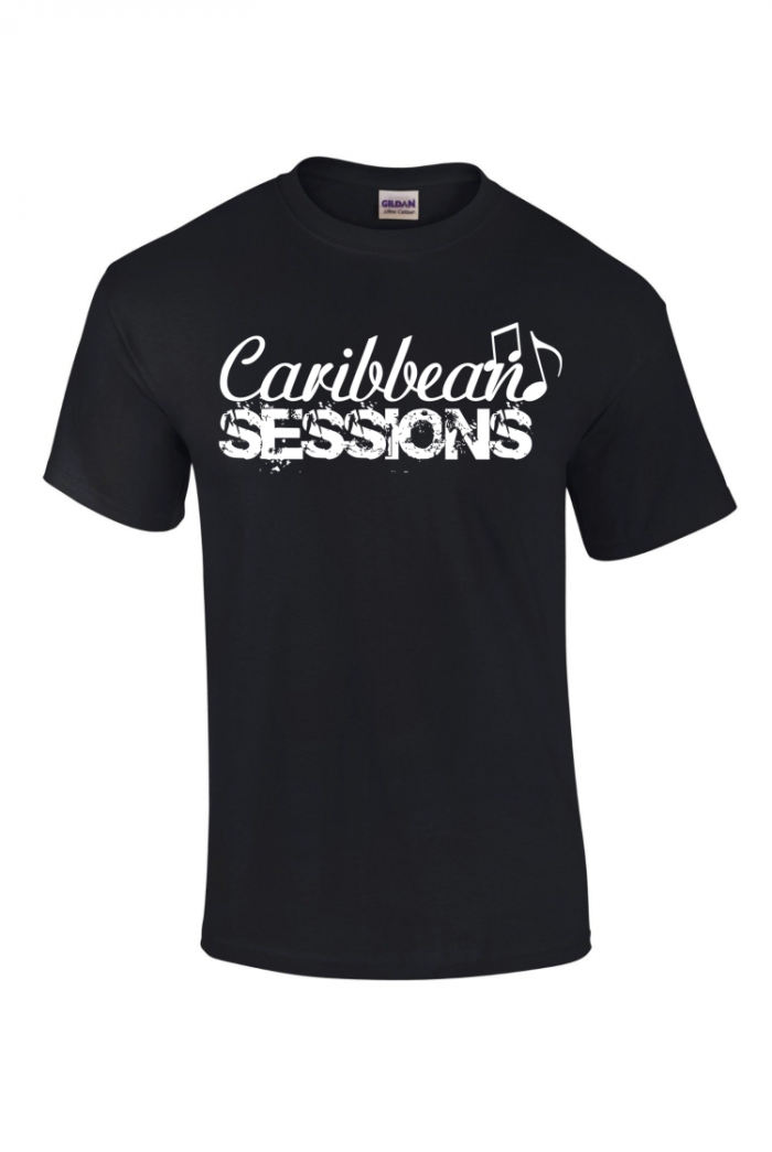 caribbean sessions t-shirt -black