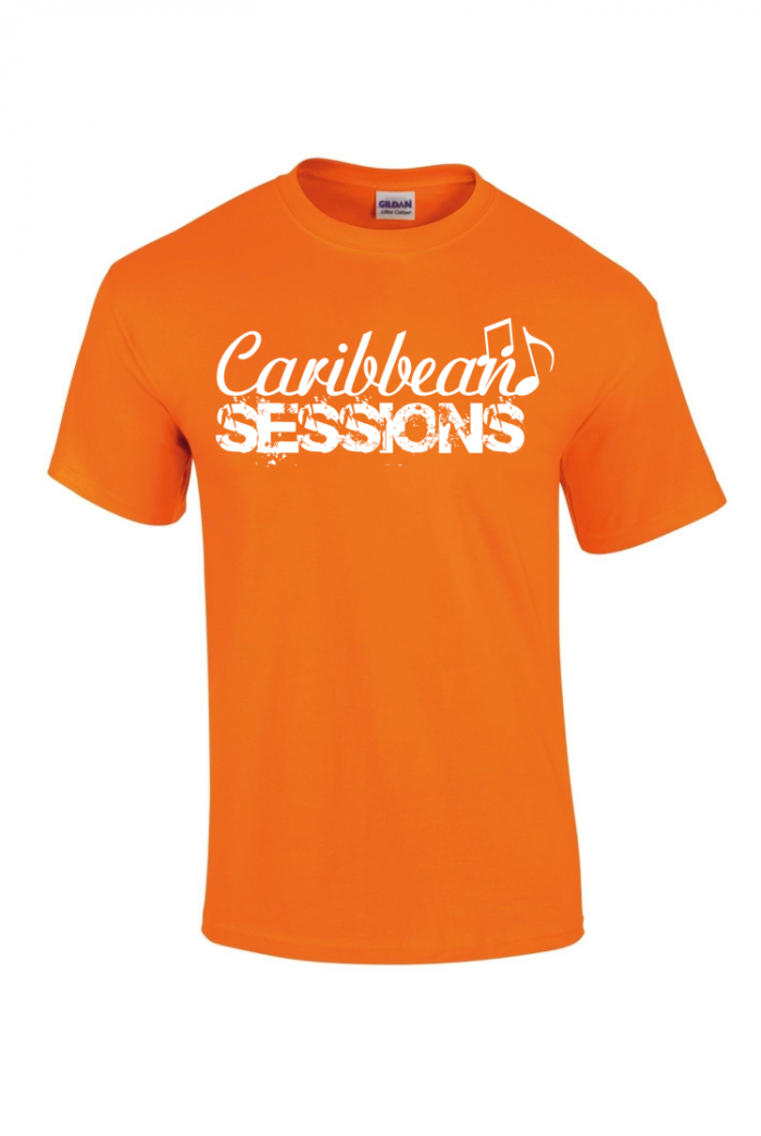 caribbean sessions t-shirt - orange