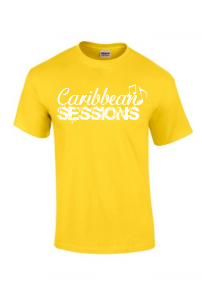 caribbean sessions t-shirt - yellow