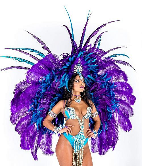 Caribbean Sessions Royalty Feather Backpack