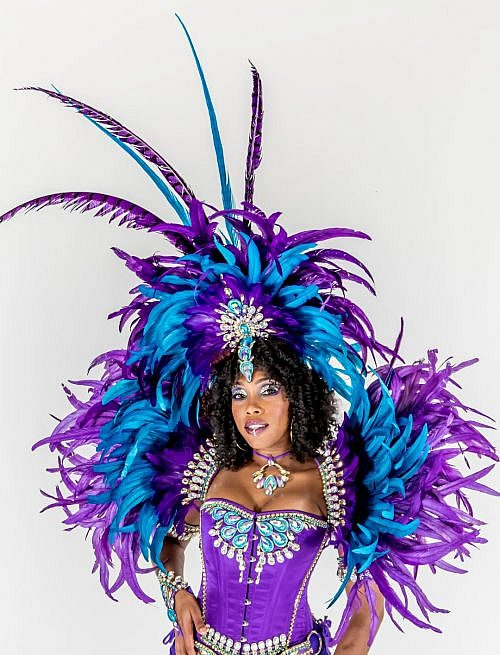 Caribbean Sessions Royalty Feather Collar