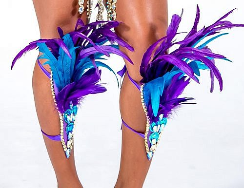 Caribbean Sessions Royalty Feather Legs