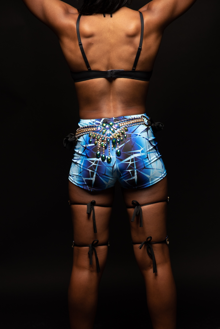 Caribbean Sessions Moon High Waist Shorts